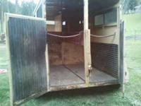 1982 Circle J 2 horse straight load horse trailer. Good