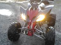 2008 Yamaha 250 Raptor, LIKE NEW, gray & & burgundy, no