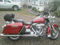 2013 Harley Road King has 3053 babied miles on it. A