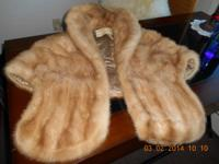 Beautiful Autumn Haze Mink Stole, with champagne color