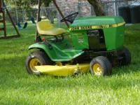 85 Model John Deere 116 Lawn Tractor $650 OBO This is a