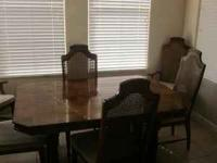 Reduced from $699. LIKE NEW. Beautiful wood dining room