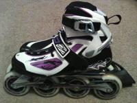 These brand new inline skates were only used 1 time to