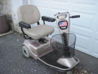Pride Legend 2002 Mobility Scooter with custom seat -