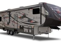 This 38' Fifth Wheel Toy Hauler will have you and your