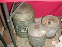 I have quite a variety of old metal oil and gas cans. I