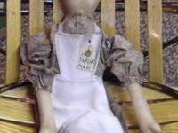 This is a hand-made primitive parlor maid doll and is