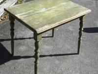 GREAT OLD PRIMITIVE FARM TABLE WITH NATURAL AGE PATINA