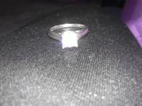 .75 white gold princes cut diamond ring must sell