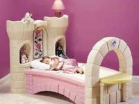 used princess bed frame and boxspring  100.00 origanaly