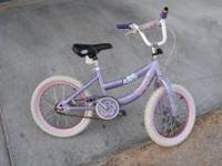 It is a used kids princess bike. $10.00 Call me . Need