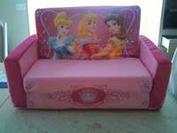 New never used princess couch that turns into sleeping