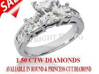WE OFFER YOU PRINCESS CUT ENGAGEMENT. RING IN 14KT GOLD