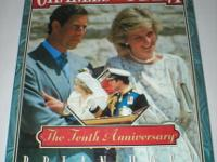 Charles & Diana The 10th Anniversary Book 1991 First