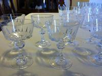 Vintage Princess House Lead Crystal Glasses -- Esprit