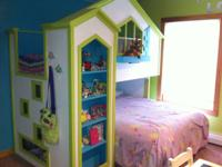 1 Girls Loft Style Bed and 1 Boys Loft Style Bed.  I