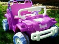 Purple, and pink - Power Wheels Jeep! Great Condition.