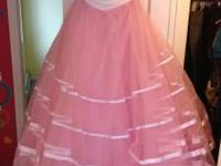 I have a beautiful pink, poofy, prom dress for sale.