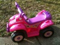The Disney Princess 6v Mini Quad Ride-on is an ideal