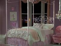 S 90000 Princess Canopy Bed (Pink, Silver or White)
