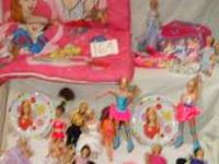 One princess lunch pale, 13 barbies, two hello you