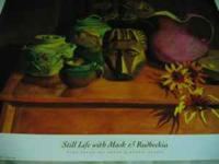 "1. Bonnie Murray ""Still ""Life with Mask and Rudbeckia"","