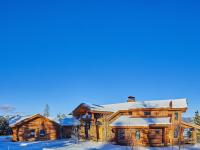 This beautiful 5,000 square foot log home is nestled in