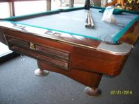 I have an 8' extra-large Brunswick Gold Crown 3 pool