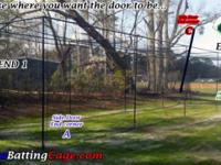 Batting cage 12x14x45 ft. Black frame #30 Netting with
