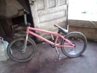 hello i have a pink pro coloney riders bmx bike, this