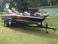 PRO CRAFT BASS BOAT Mariner magnum 150HP motor, steel