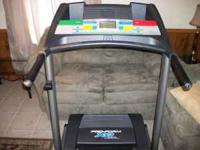 LIKE NEW TREADMILL. FEATURES INCLUDE 1MPH TO