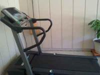 This treadmill has been used less than 10 times. It is