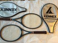 2 Pro Kennex Rackets, Blue Ace, Mid Size, Graphite Wood
