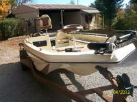 17 Ft ProMaster Bass Boat and Trailer, no motor.