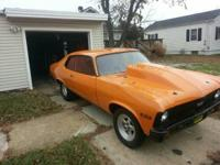 Up for sale is my 1973 professional street Chevy Nova.