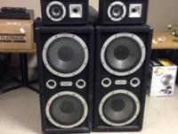 Pro Studio industrial sound system speakers. Local