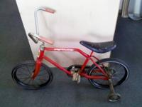 "16"" boys1984 red pro thunder old bicycle. All original"