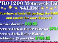 Purchase a PRO 1200 Motorcycle Lift Basic Package for