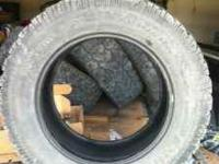 4 Pro Comp Xtreme 35x12.50x20 tires. They have about