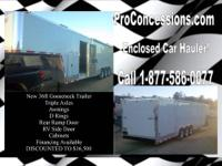 concession trailers, car haulers, living quarter