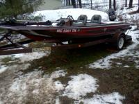 ProCraft Bass Boat With Trailer and Motor  Trailer has
