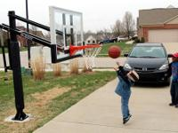"Pro Dunk 54"" Silver Basketball Goal Sale! With Rust"