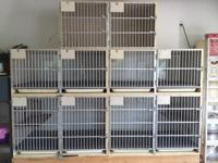 Large Bank of Professional Kennels. Used but good