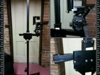 Expert Camera Stand on Wheels stands 7' high,