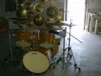 "1.PEARL MLX MAPLE DRUM SET SHELL PACK, 24""BASS DRUM,"