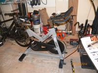 Incredible workout bike with heart rate display and