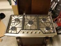 Professional Stainless Steel Gas Cooktop. Was in a show