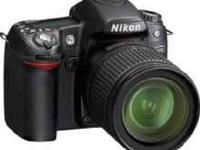 Professional Nikon D80 DSLR with Nikon Nikkor 18-55mm