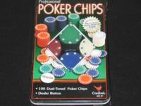 Brand New Professional Poker chips still sealed in